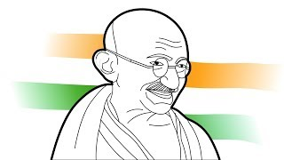320x180 All Clip Of How To Draw Mahatma Gandhi