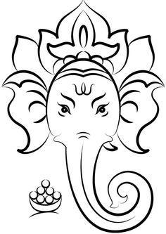 Ganesh Drawing Simple
