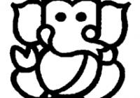200x140 Easy Ganesha Coloring Pages With Simple Ganesha Drawing Google
