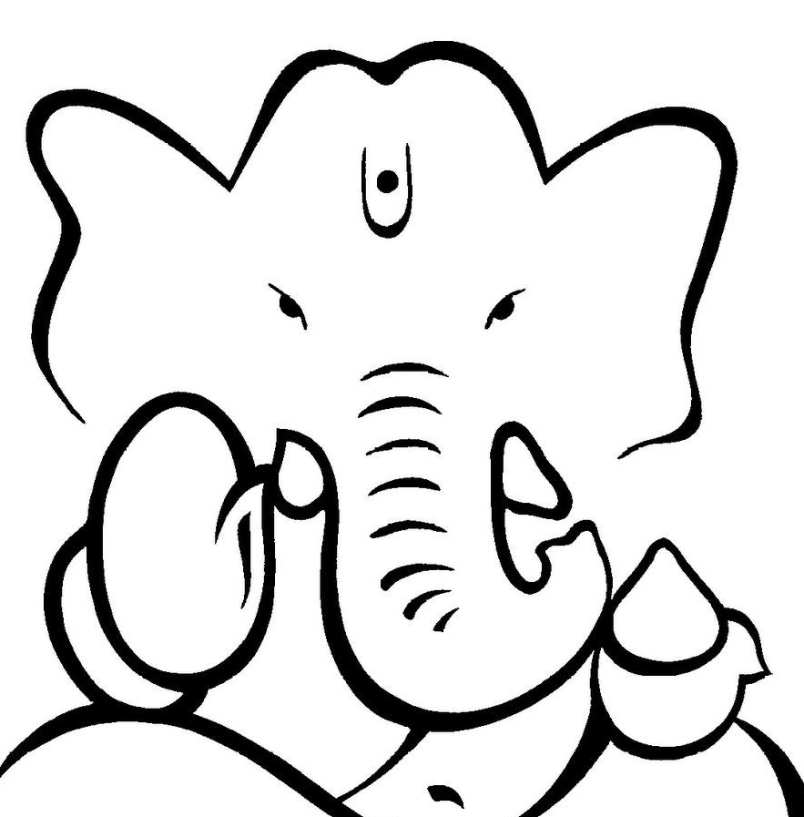 883x897 Easy Ganpati Sketches Easy Ganpati Sketches