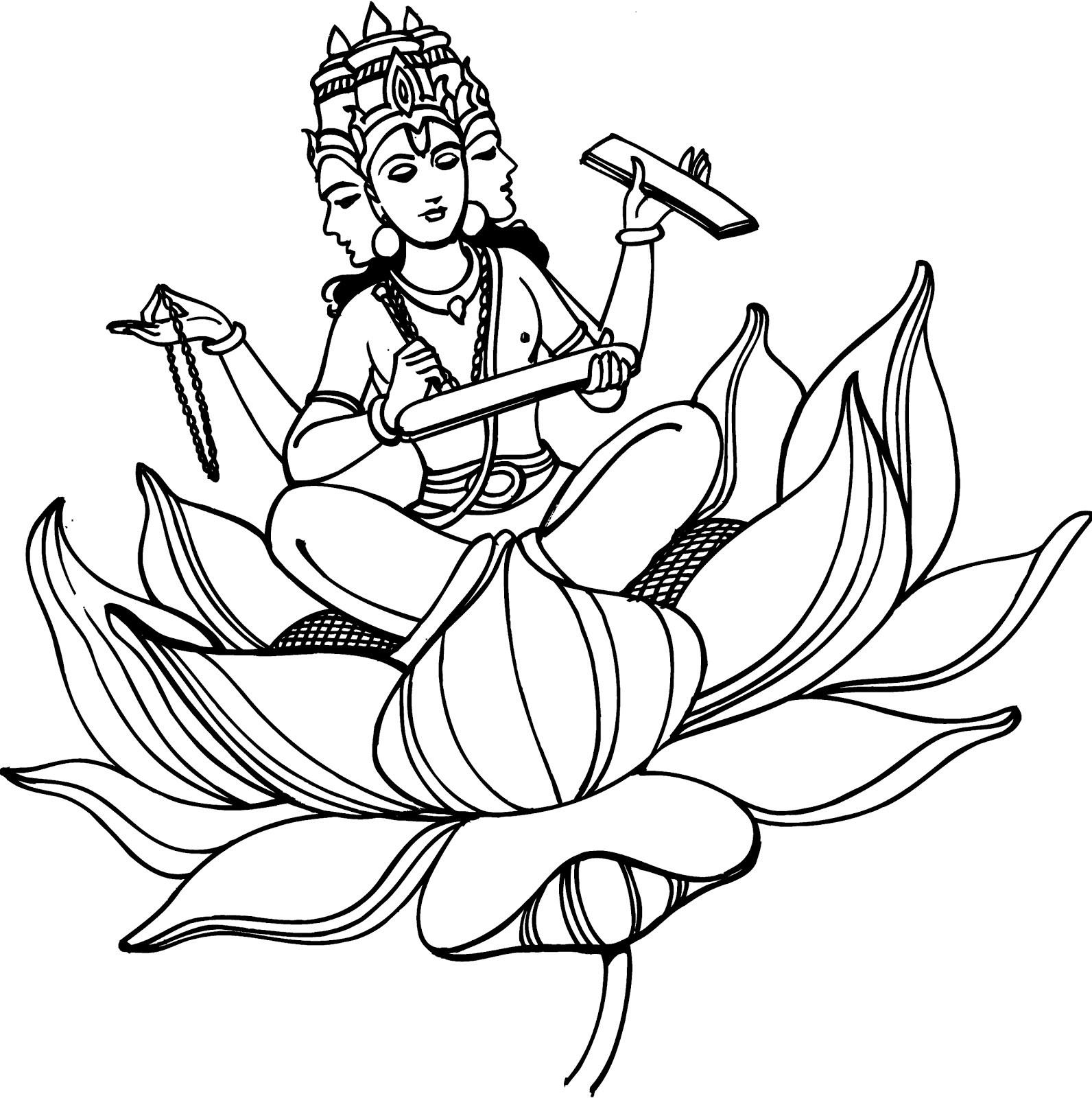 1592x1600 Ganesh Ji Drawing Easy With Colour