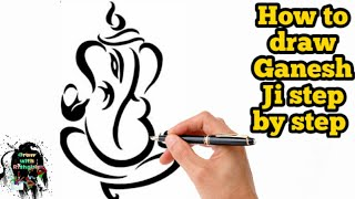 320x180 How To Draw Ganesha Face Step