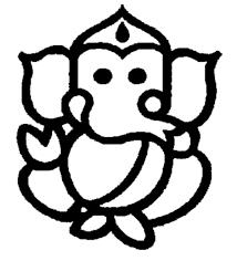 214x236 Simple Ganesha Drawing