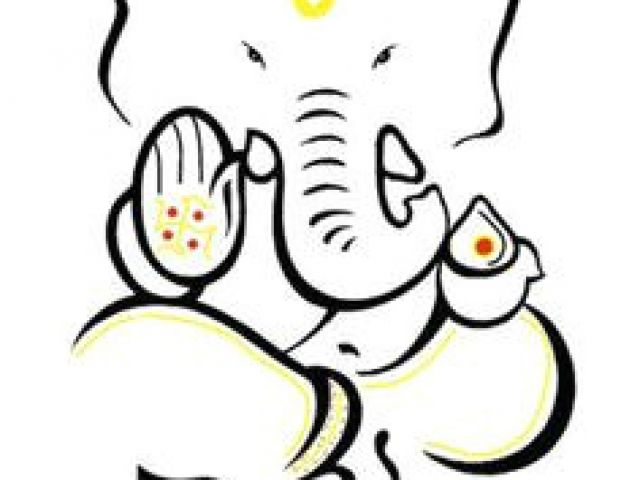 Easy Simple Ganpati Painting