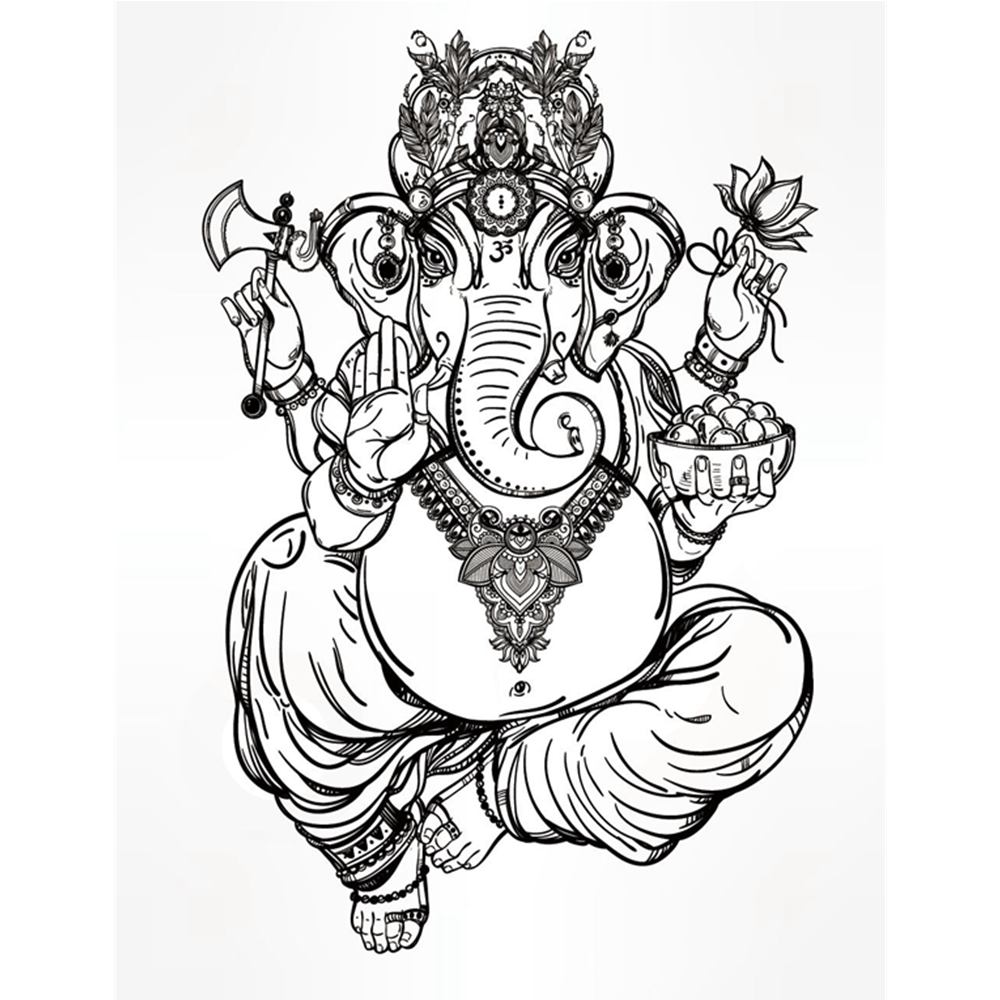 Ganesh Pencil Drawing
