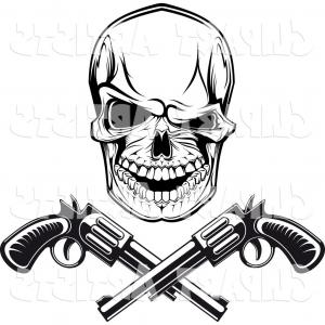 300x300 Cigars Stock Vector Skull Drawings Of Gangster Skulls Hat Two