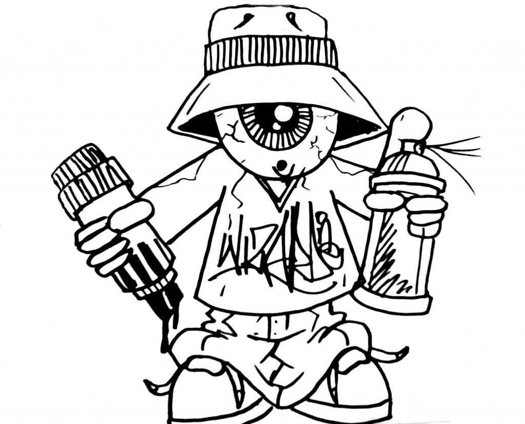 1024x828 Graffiti Cartoon Spray Can How To Draw