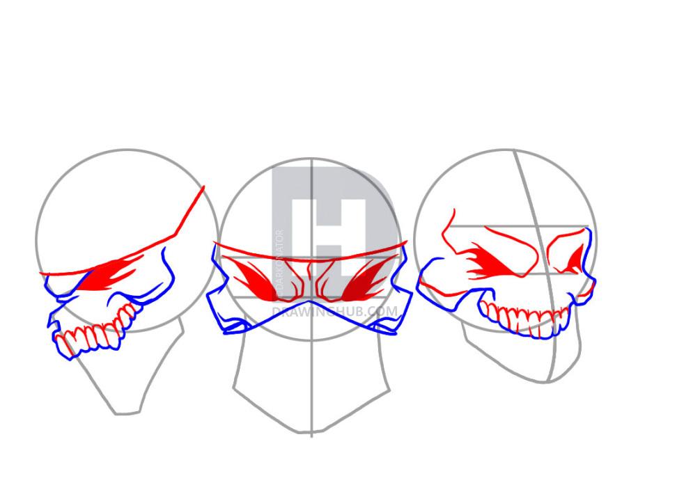 972x720 How To Draw Gangsta, Step