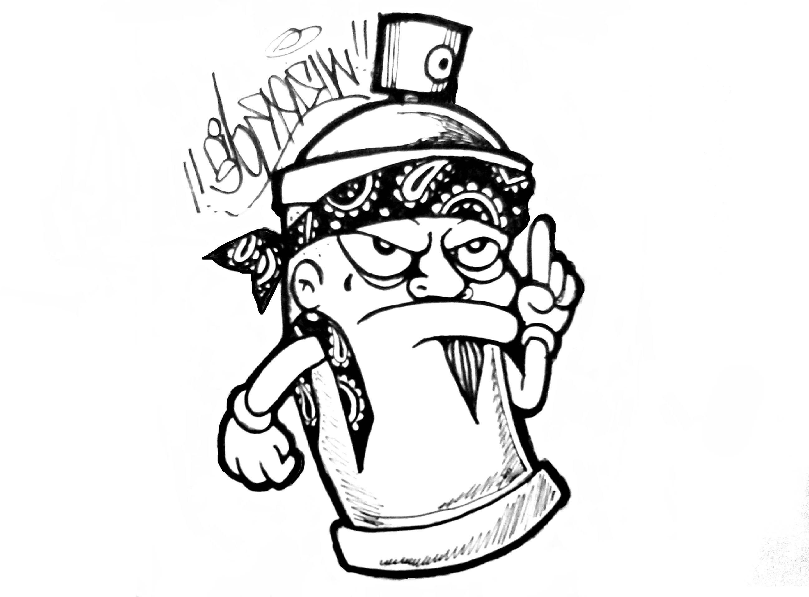 2592x1912 Character Gangster Drawing Cartoon