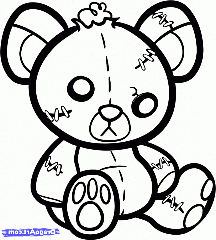 922x1024 Stitch Drawing Teddy Bear For Free Download