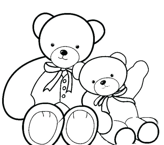 678x600 Collection Teddy Bears Pictures To Color Pictures
