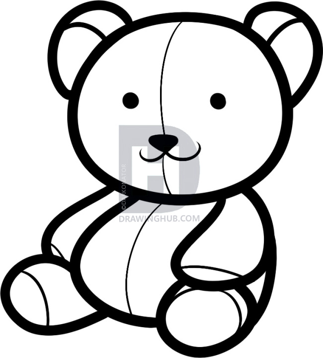 650x720 Drawn Teddy Bear