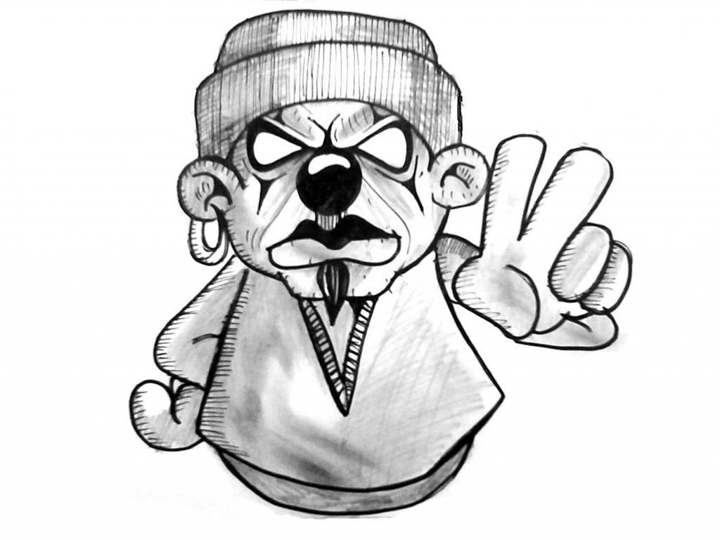 1024x769 Drawn Teddy Bear Graffiti