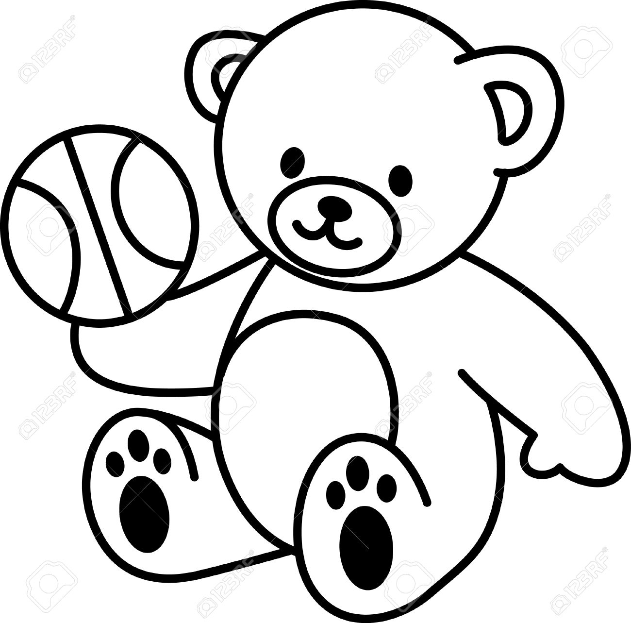 1300x1283 Drawn Teddy Bear Gangster Free Clip Art Stock Illustrations