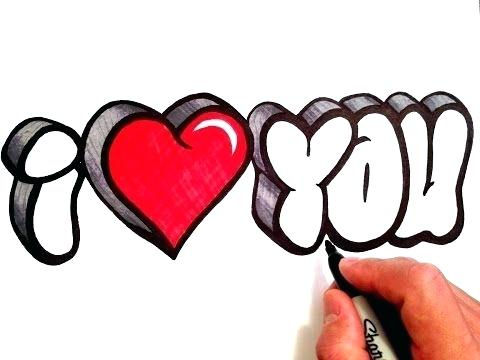 480x360 I Love You Drawing