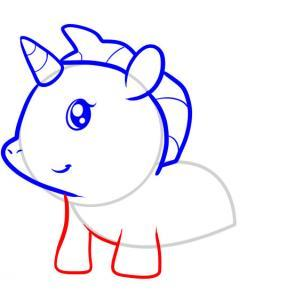 302x302 Unicorn Drawing For Kids Simple Step