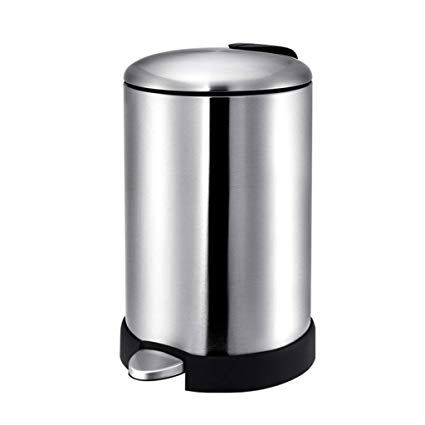 425x425 trash can stainless steel round rubbish storage box pedal type