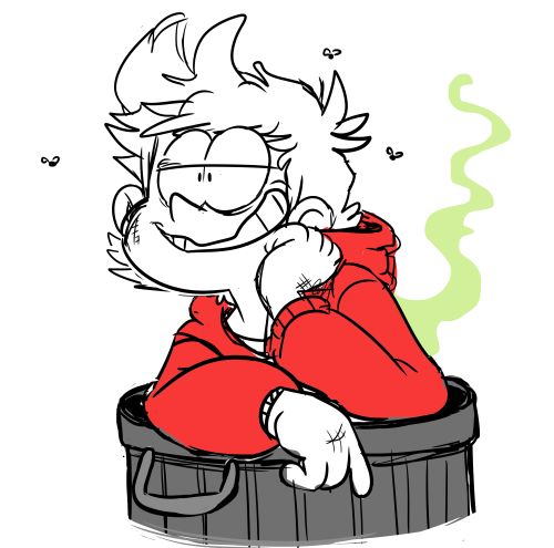 500x495 he's a garbage man, in a garbage can eddsworld doodles, shit