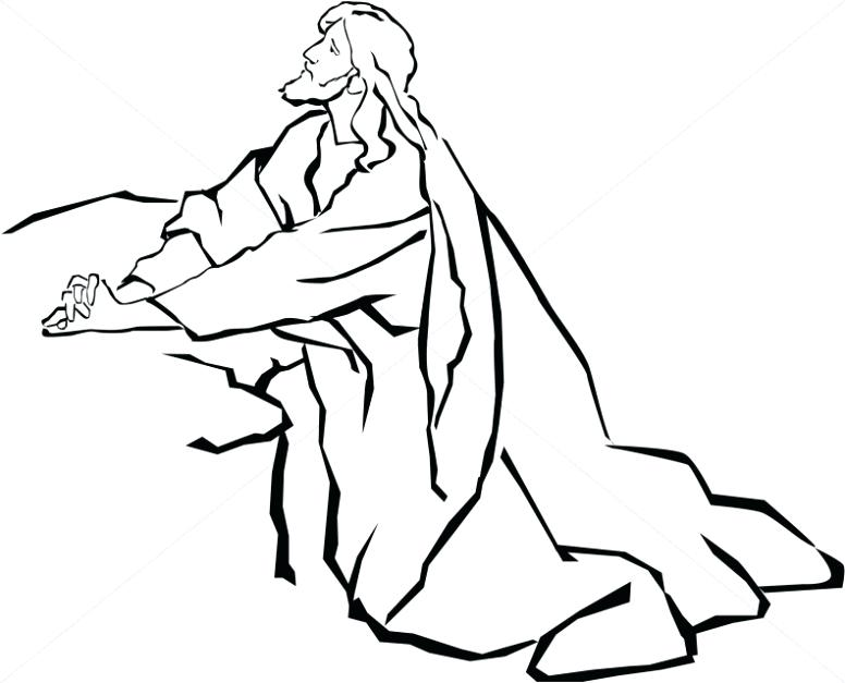 776x627 Wonderful Black And White Line Drawings Of Jesus In The Garden