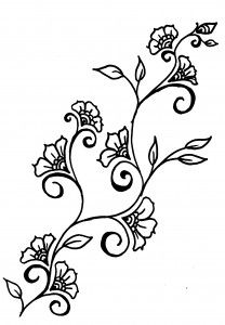 208x300 vine with flowers garter tatt tattoos vine tattoos, vine
