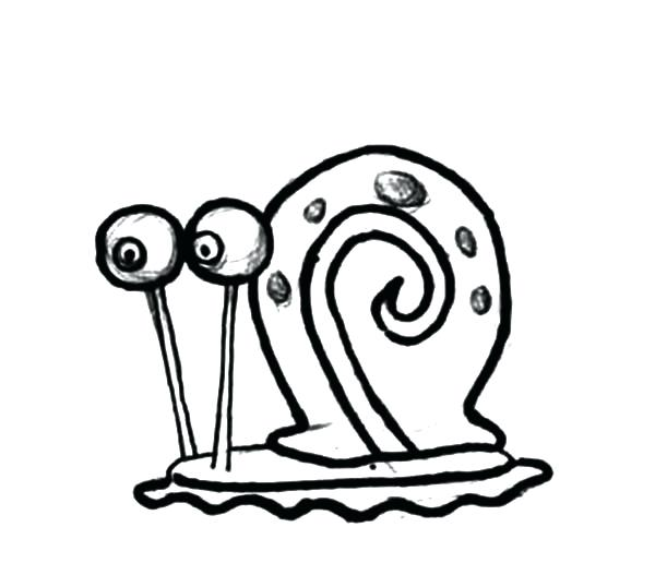 600x527 Gary The Snail Coloring Pages Full Size Color It Gary Snail