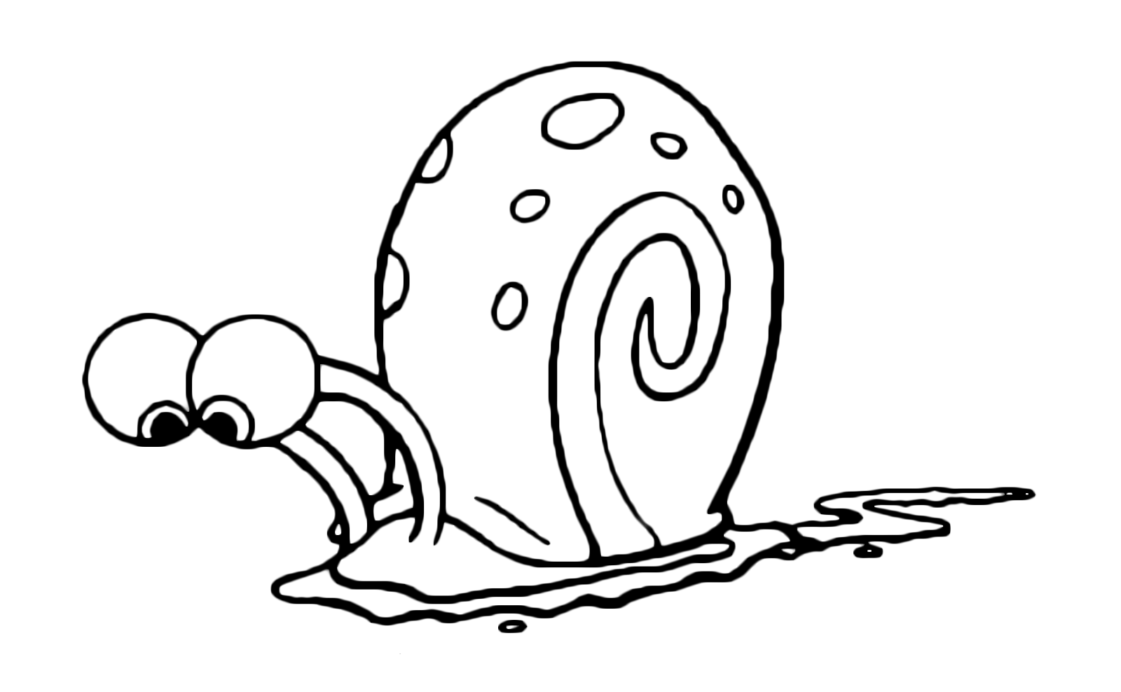 1600x988 awesome spongebob gary the snail looks at the ground puzzled