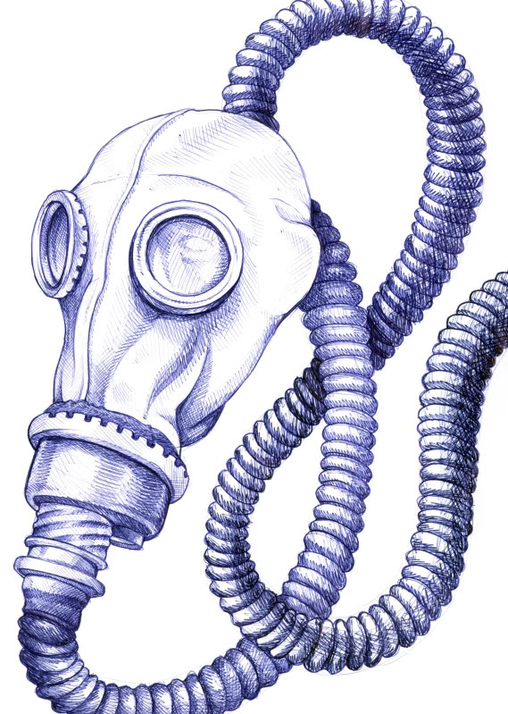 569x799 ballpoint pen gas mask drawing pictures, images photos photobucket