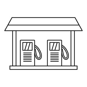 300x300 gas station icon outline illustration of gas station vector icon