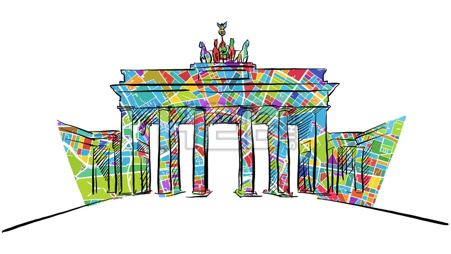 900x506 Brandenburg Gate Self Drawing Lines With Map Hebstreits Sketches
