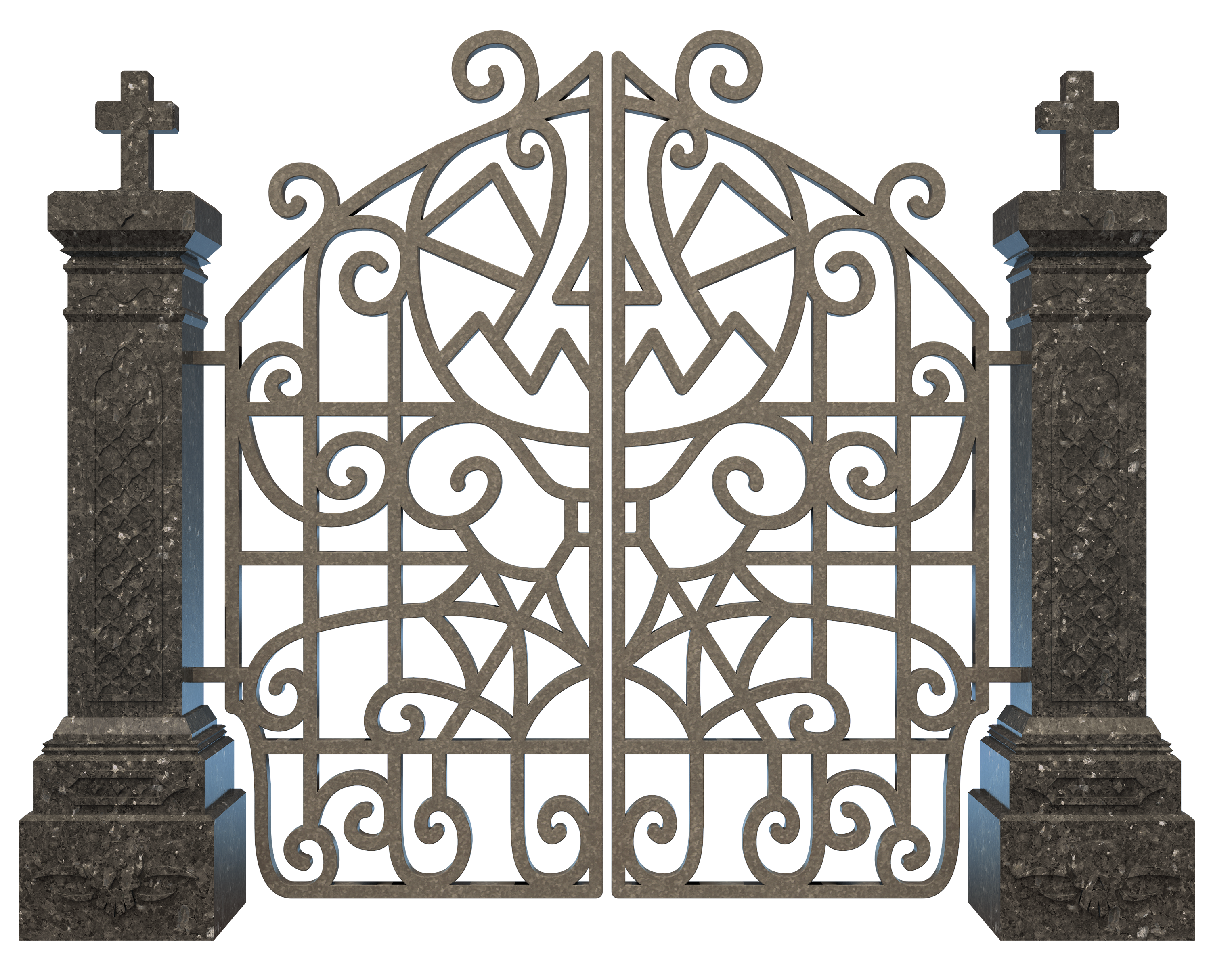 3000x2428 Collection Of Free Graveyard Drawing Gate Download On Ui Ex
