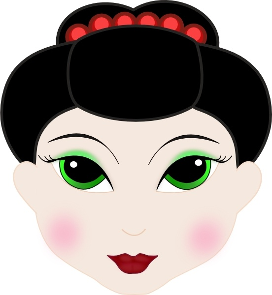 552x600 Geisha Girl Anime Clip Art Free Vector In Open Office Drawing