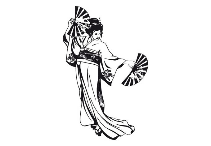 680x472 Geisha Drawing Dancing For Free Download