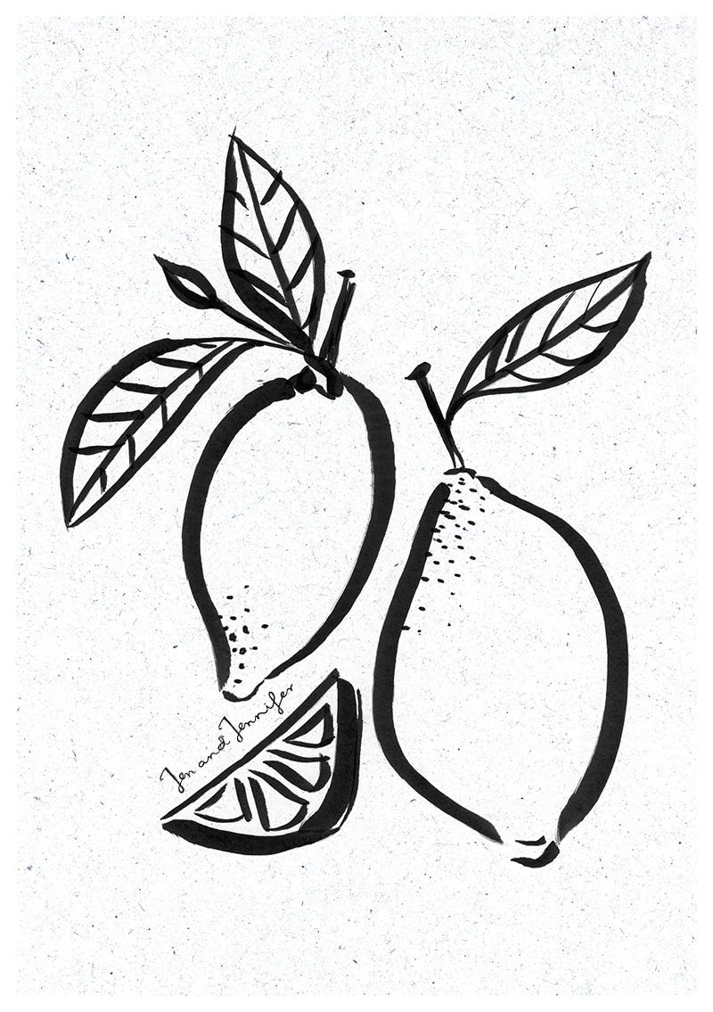 800x1135 Ink Illustrations Jen And Jennifer Illustration