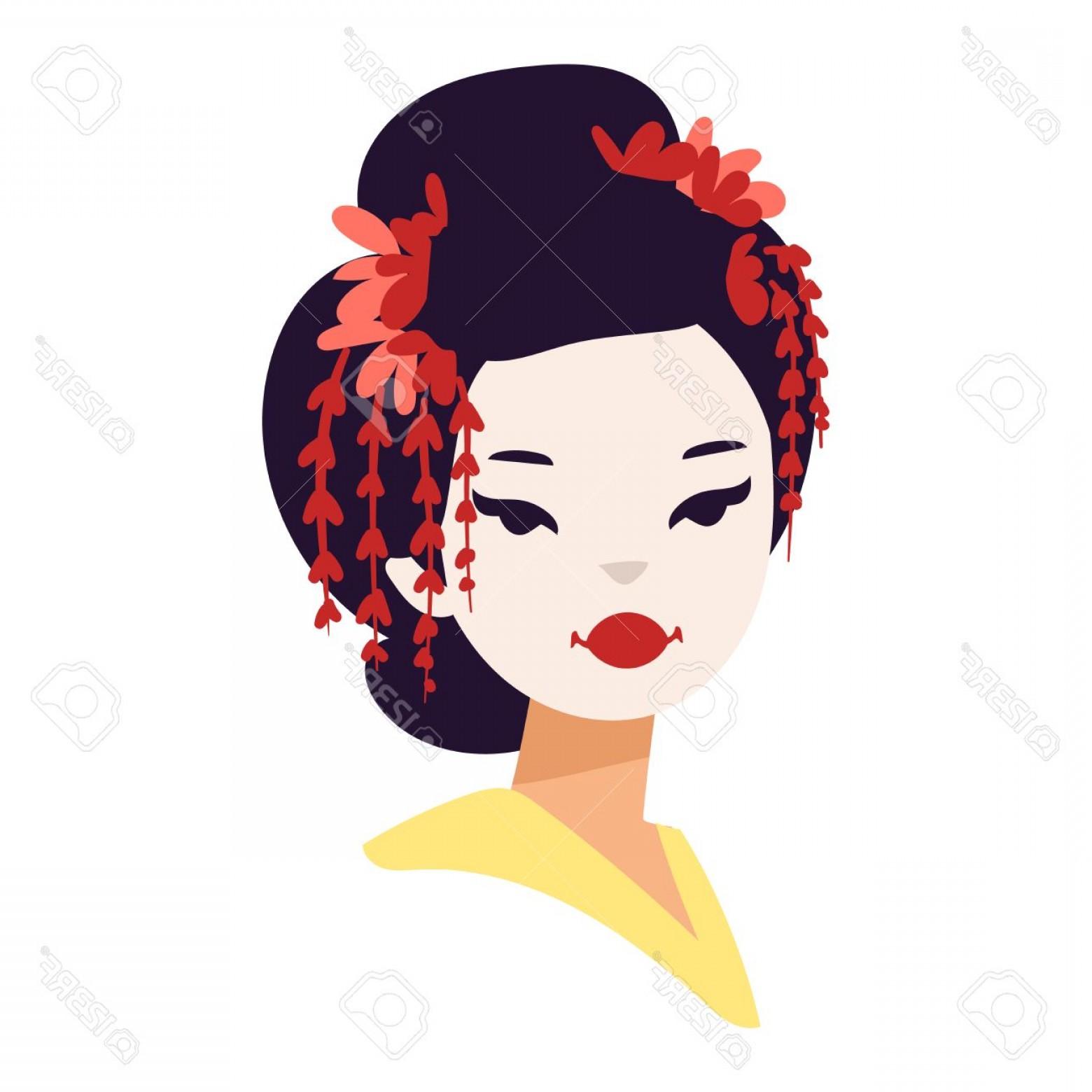 1560x1560 photostock vector vector kokeshi doll japanese geisha girl face