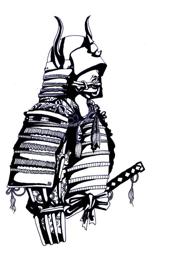 600x886 Samurai Drawing Samurai Warrior For Free Download