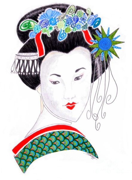 442x600 Asian Culture Drawings Fine Art America