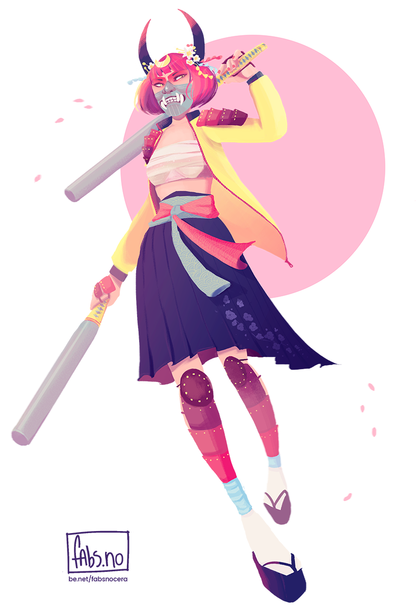 818x1200 Cdc Pastel Samurai On Behance