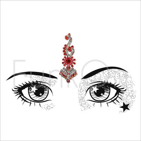 480x480 majestic huge single red bindi festival face gem jewel