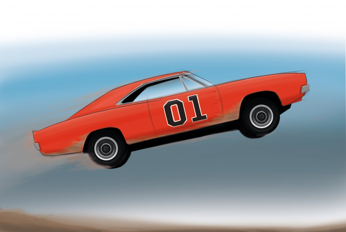 General Lee Car Drawing   Free download on ClipArtMag