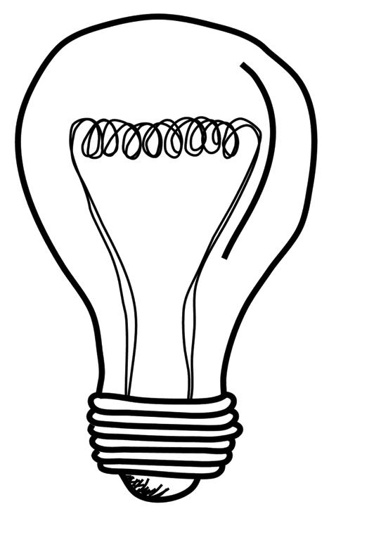 542x761 lightbulb drawing ink me painted light bulbs, lightbulb