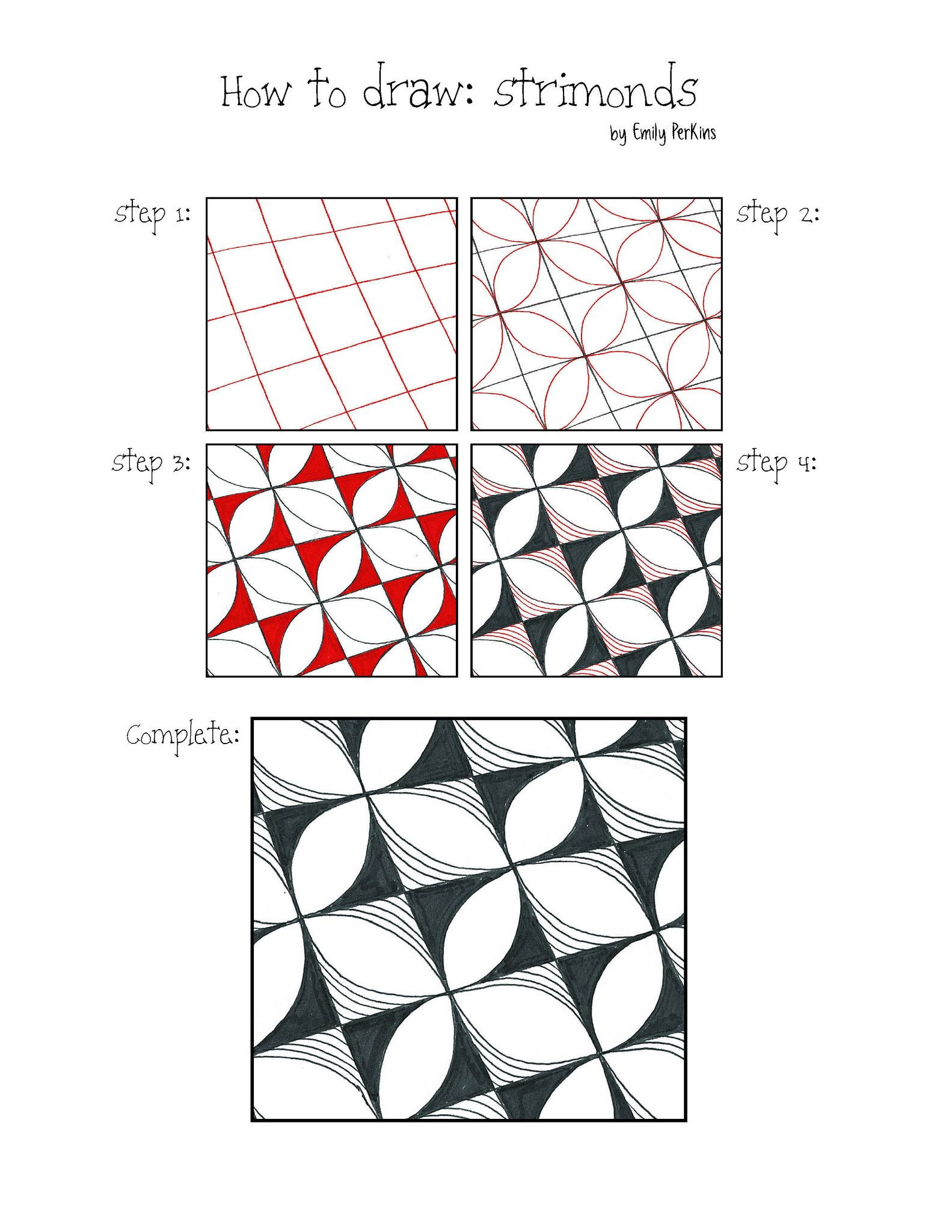 1583x2048 strimonds in geo patterns tutorials zentangle patterns