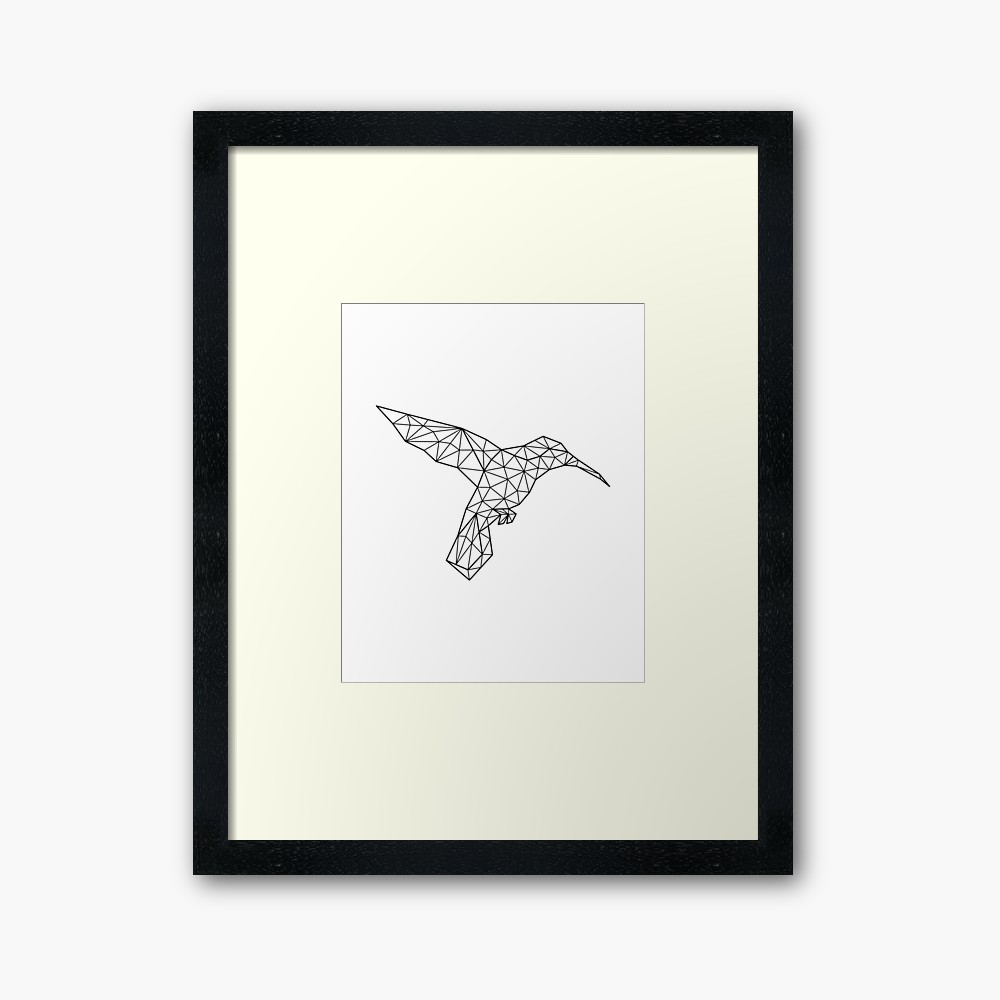 1000x1000 geometric hummingbird print, hummingbird drawing, hummingbird wall