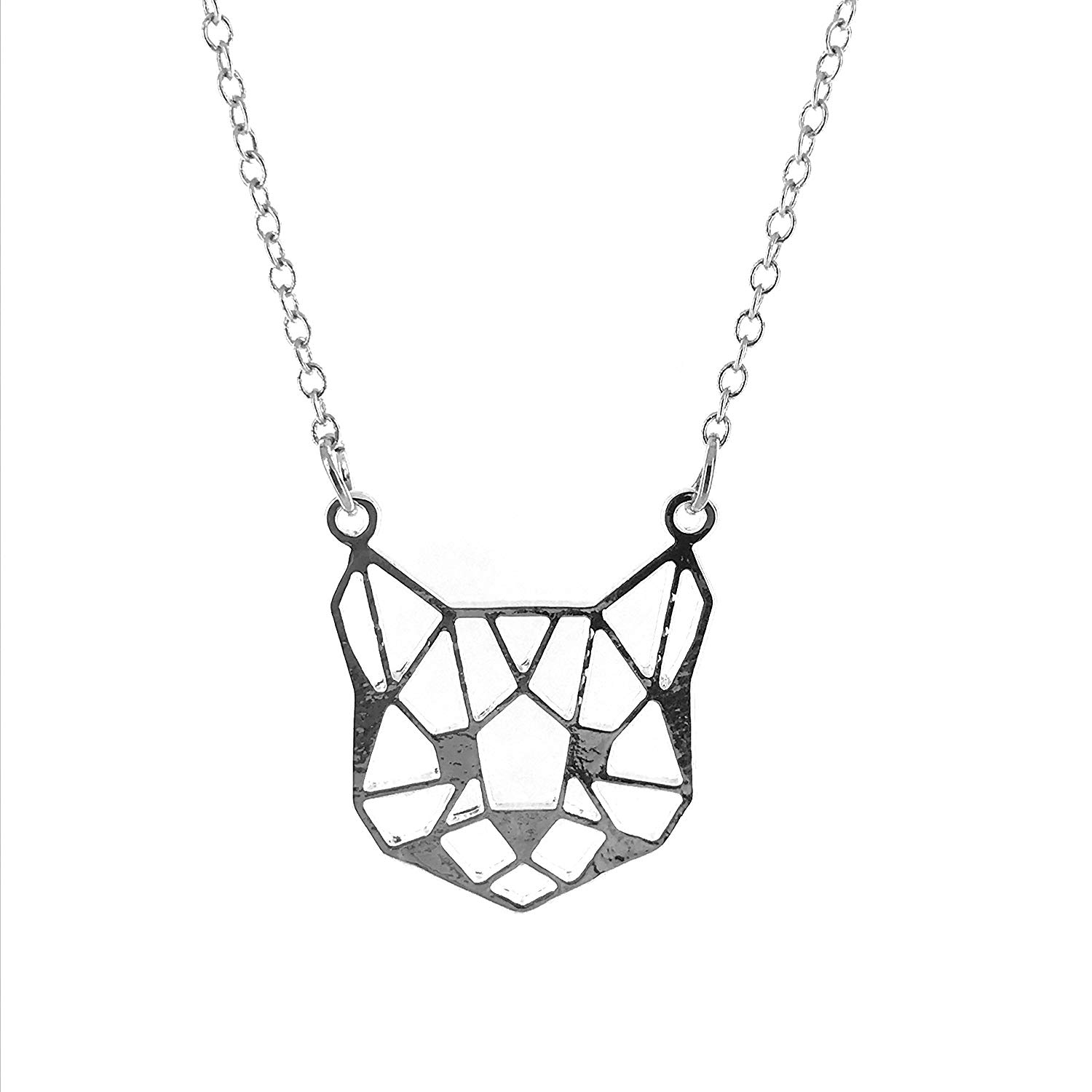 1500x1500 Geometric Cat Face Necklace Jewellery
