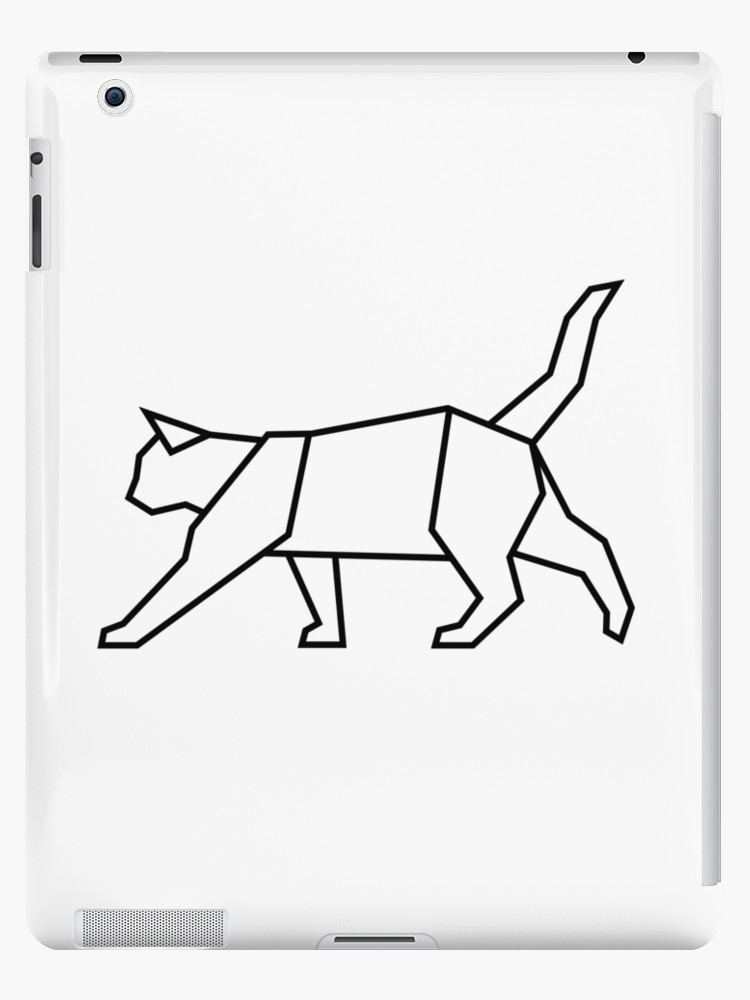 750x1000 Geometric Cat Ipad Cases Skins