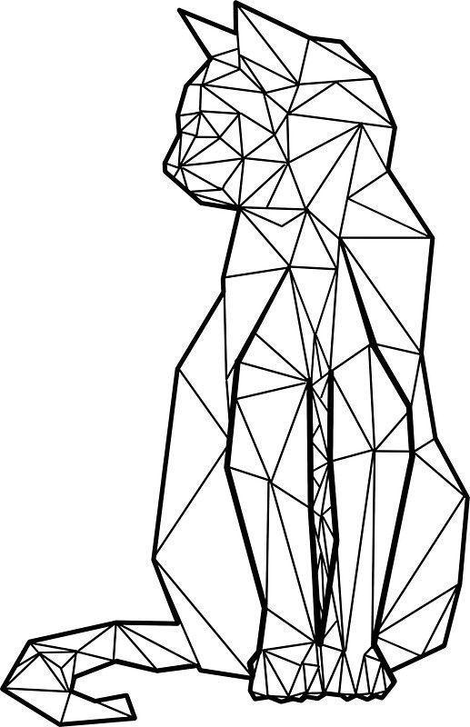 517x800 Geometric Cat