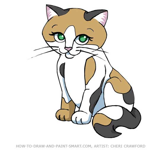 550x509 How To Draw A Cat