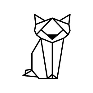 300x300 Tattoo Geometric Cat