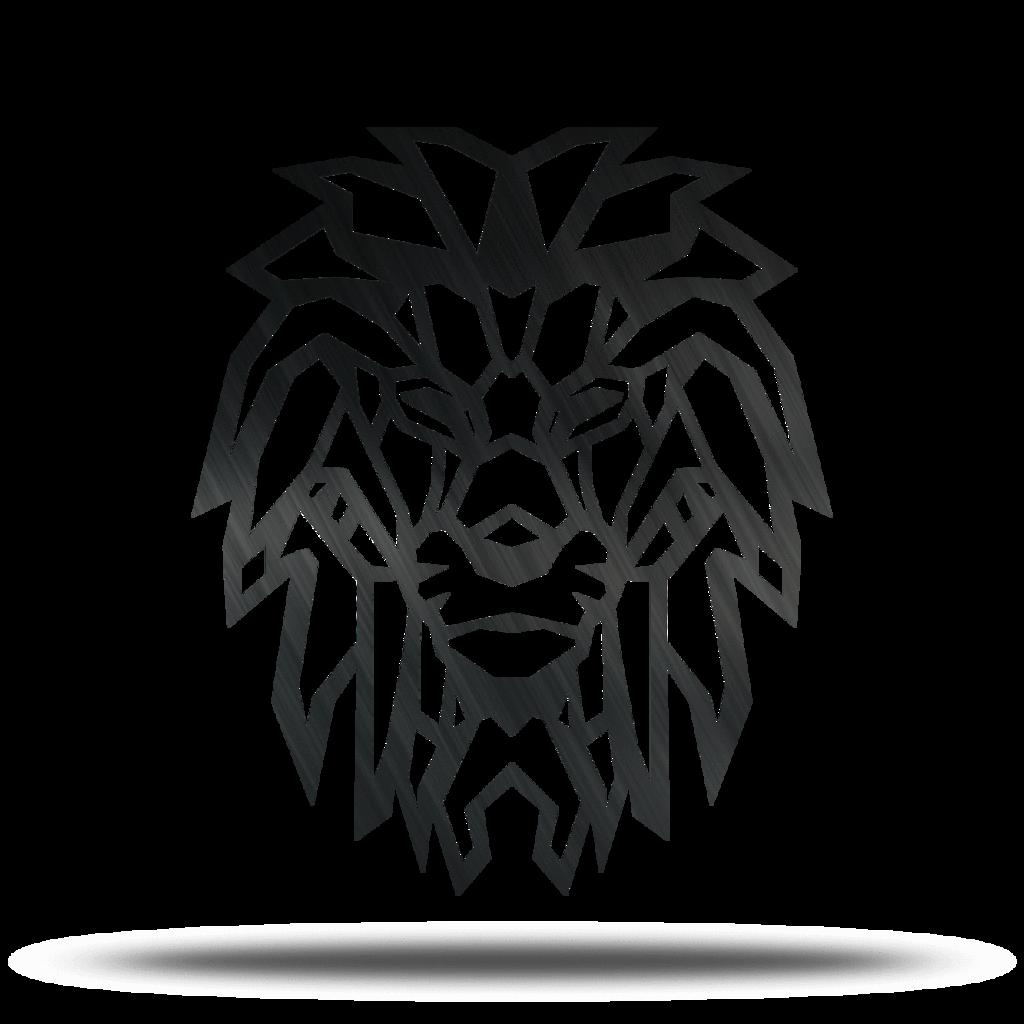 1024x1024 geometric lion metal wall art lakewood metal