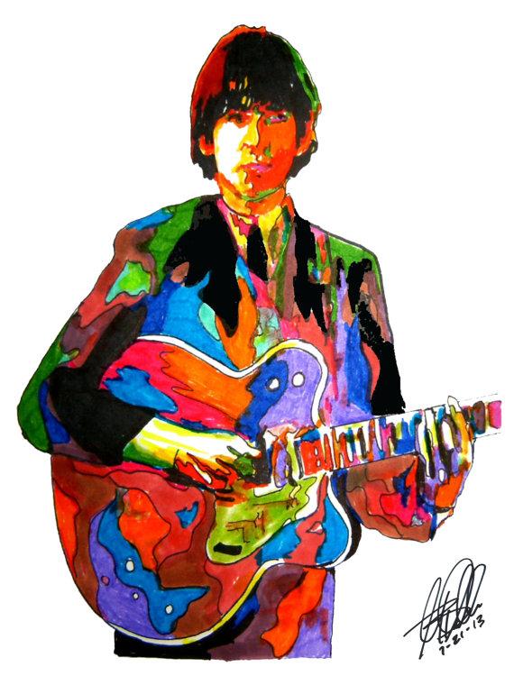 570x760 George Harrison, The Beatles, Guitar Player, Lead Guitarist