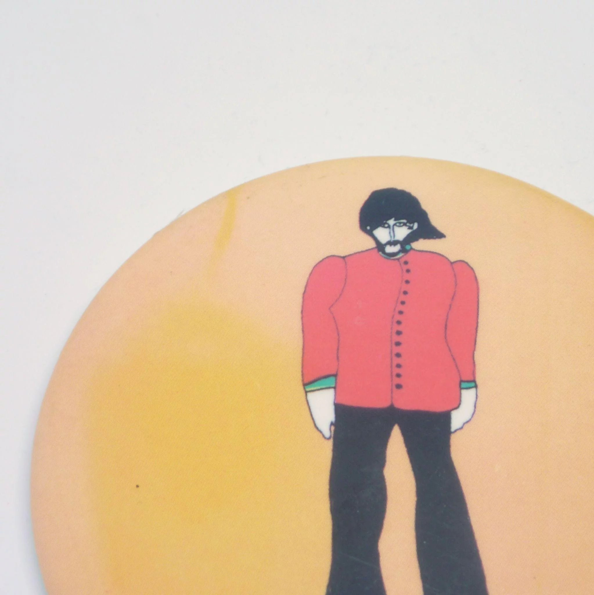 2046x2048 George Harrison Beatles Primrose Confection Pinback Button Rare